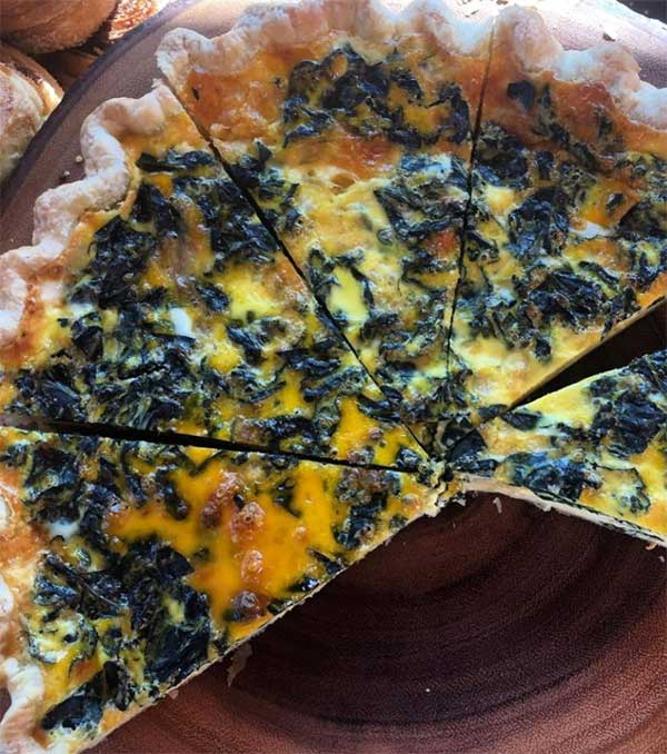 kale and cheddar quiche