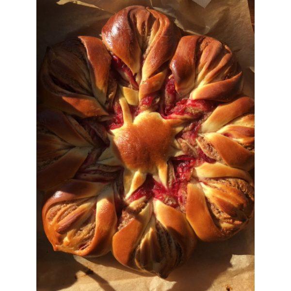 Cranberry Almond star bread
