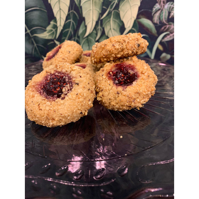 Linzer Thumbprints with Raspberry Jam